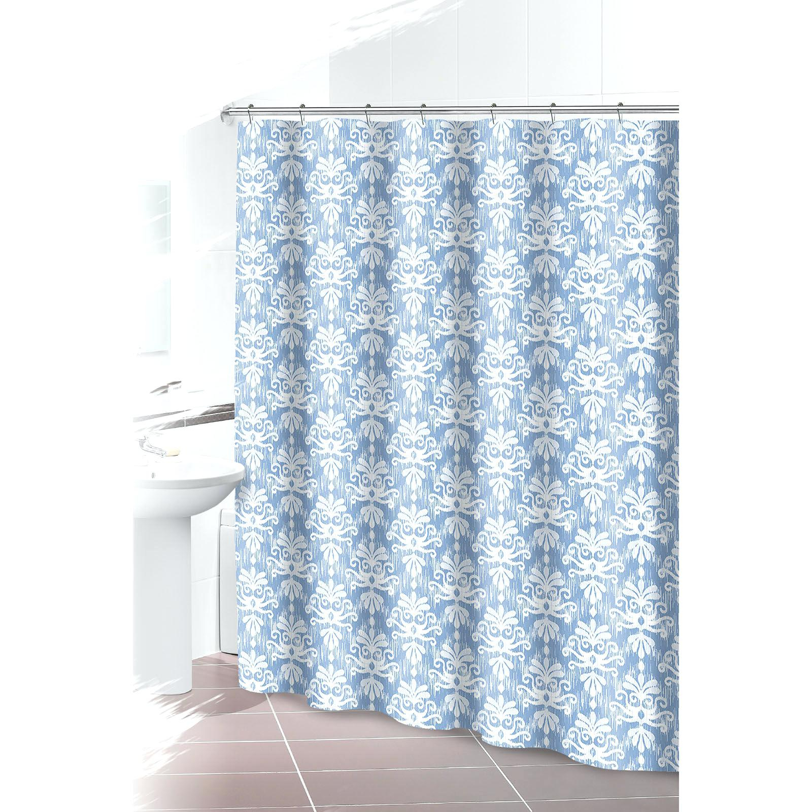 Light Blue Ruffle Shower Curtain • Shower Curtains Ideas