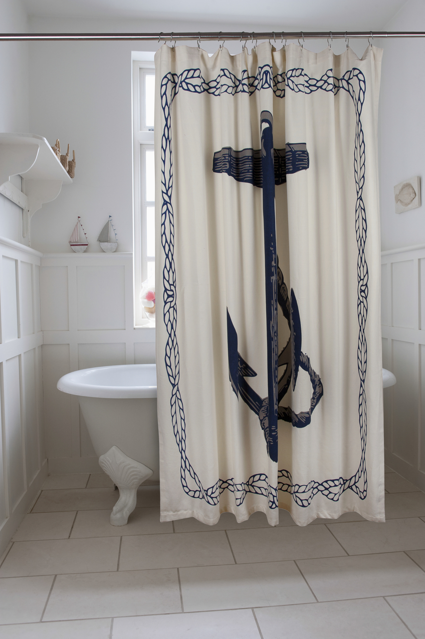 Lighthouse Nautical Shower Curtain Hooks Set Best Nautical throughout measurements 852 X 1280
