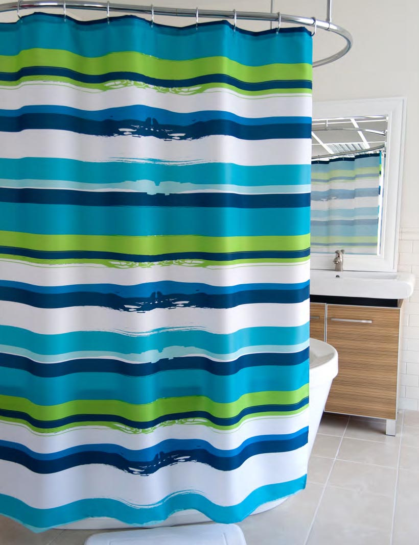Charming Teal And Lime Green Shower Curtain Curtains Ideas