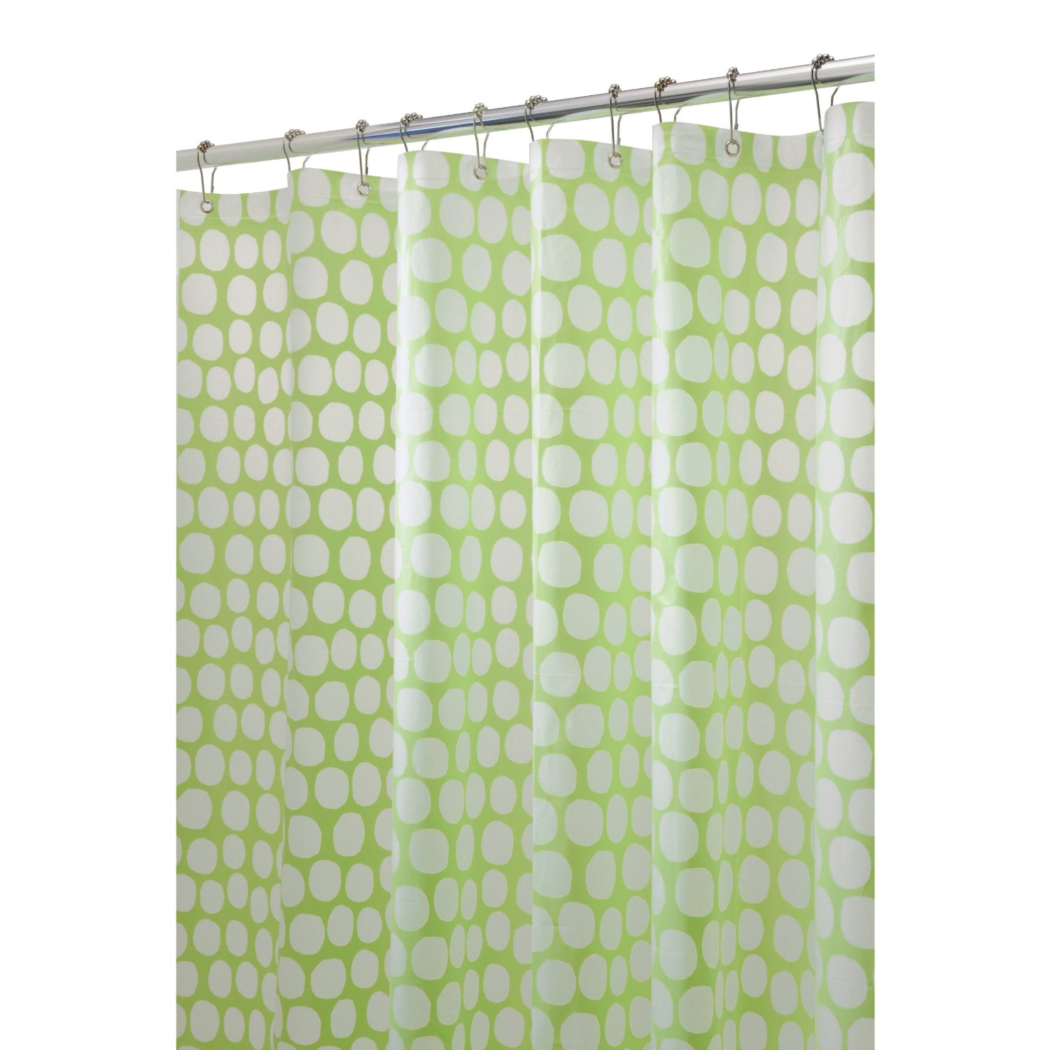 Lime Green Shower Curtain And White Circle Pattern And No Polka regarding measurements 1500 X 1500