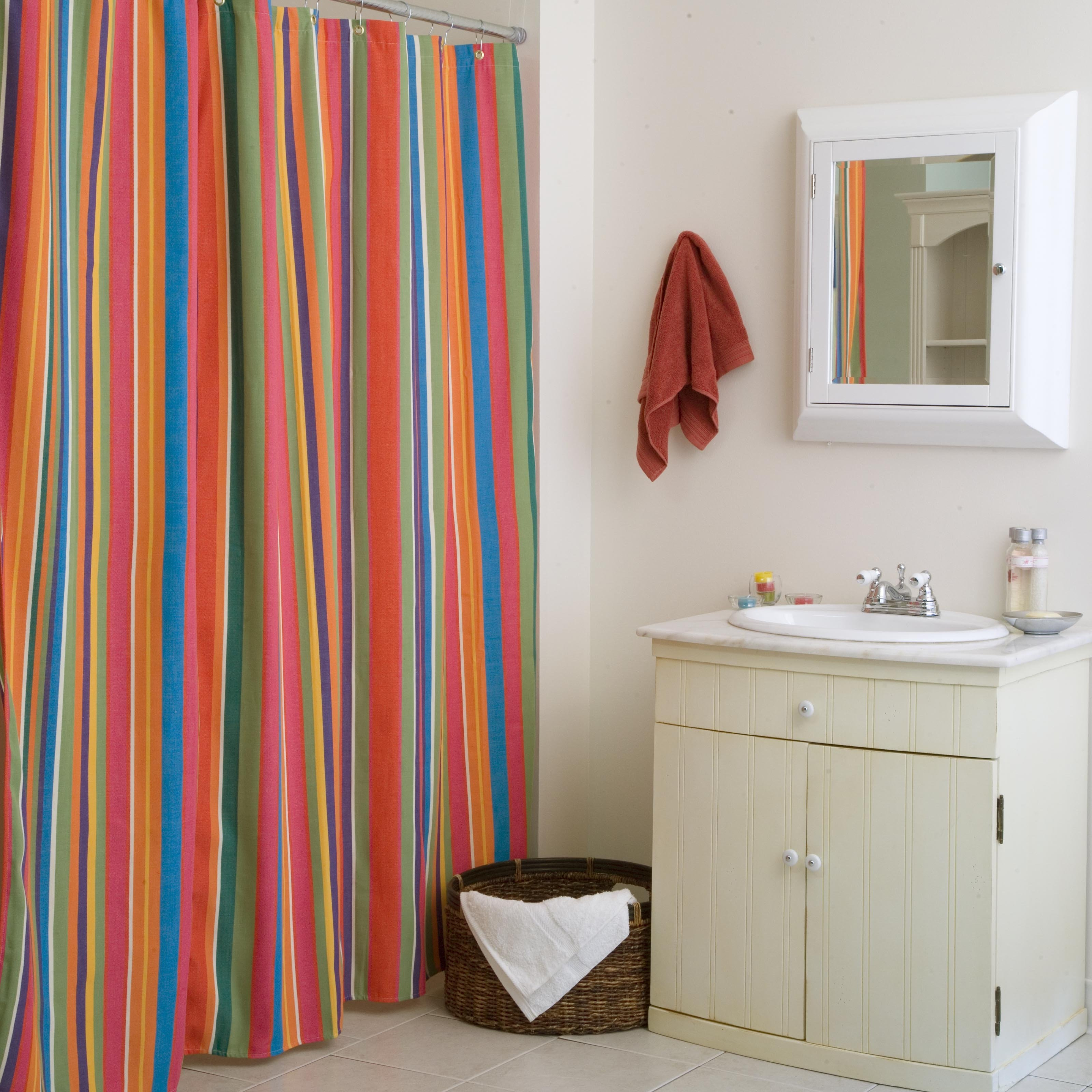 Lime Green Striped Shower Curtain Shower Curtain Ideas For Size 3200 X 3200
