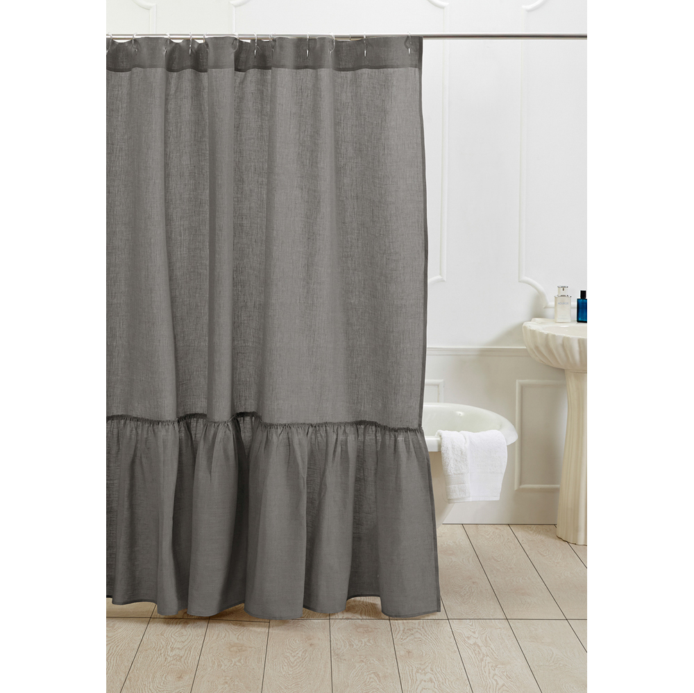 grey linen shower curtain. Linen Shower Curtain Neutral Grey intended for sizing 1000 X 999  Curtains Ideas
