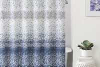 Lovely Decoration Blue And Gray Shower Curtain Outstanding Dahlia for size 910 X 1000