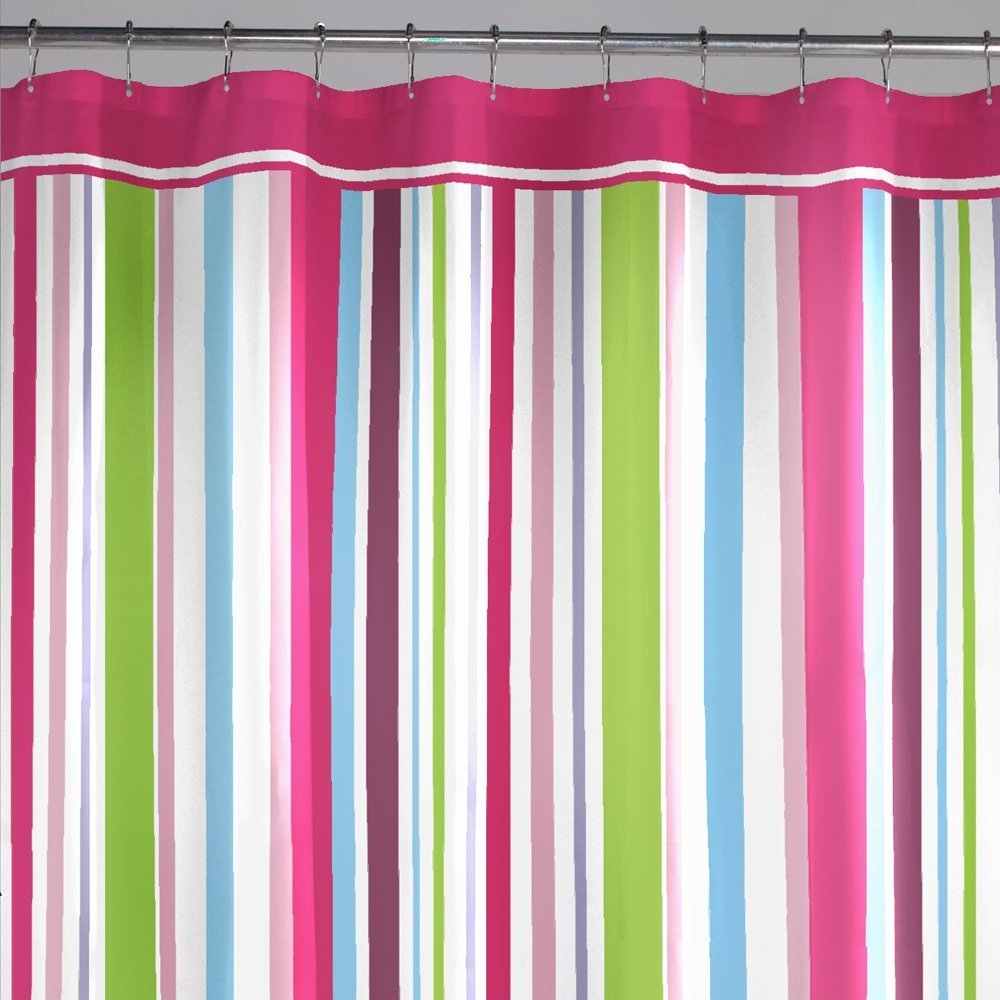 Lovely Hot Pink Shower Curtains Contemporary Bathtub For Within Size 1000 X  1000