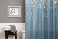 Lush Decor Flower Drops Federal Blue White Shower Curtain Free in dimensions 1024 X 1024