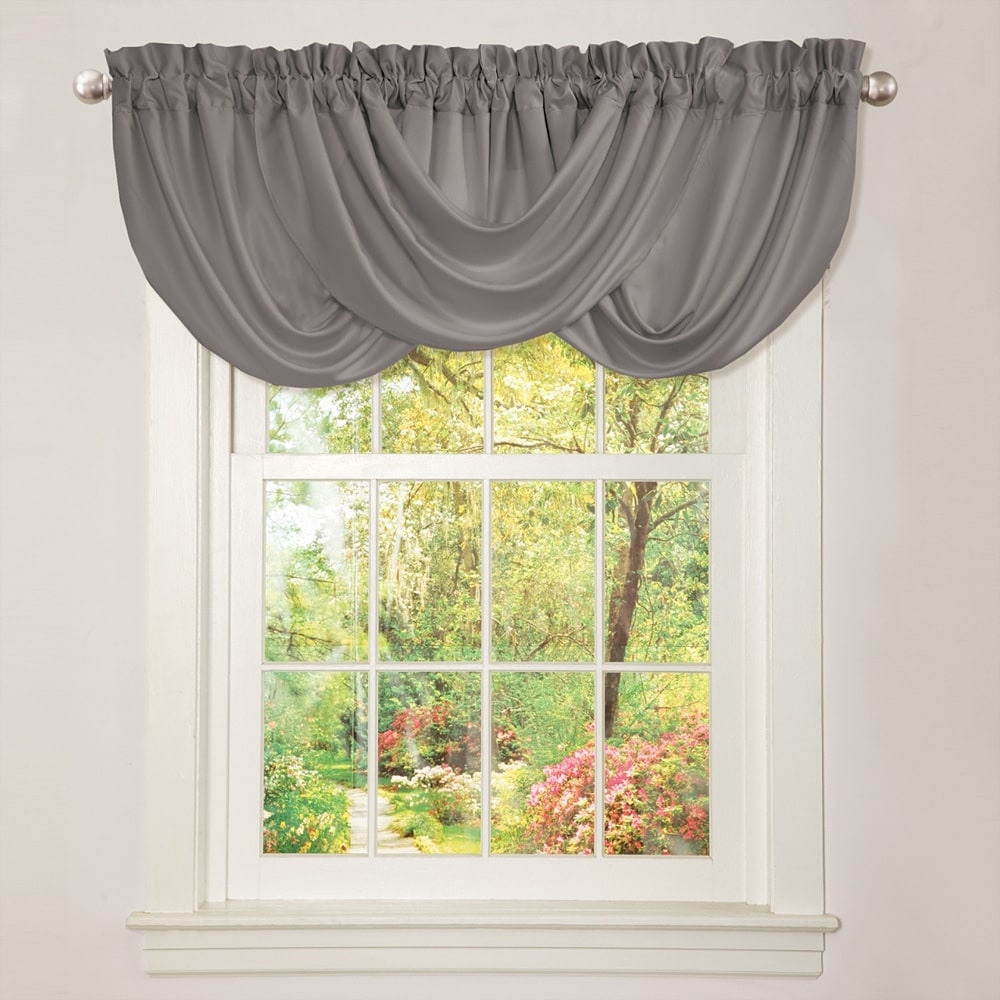 Lush Decor Lucia Grey Valance Free Shipping On Orders Over 45 pertaining to measurements 1000 X 1000