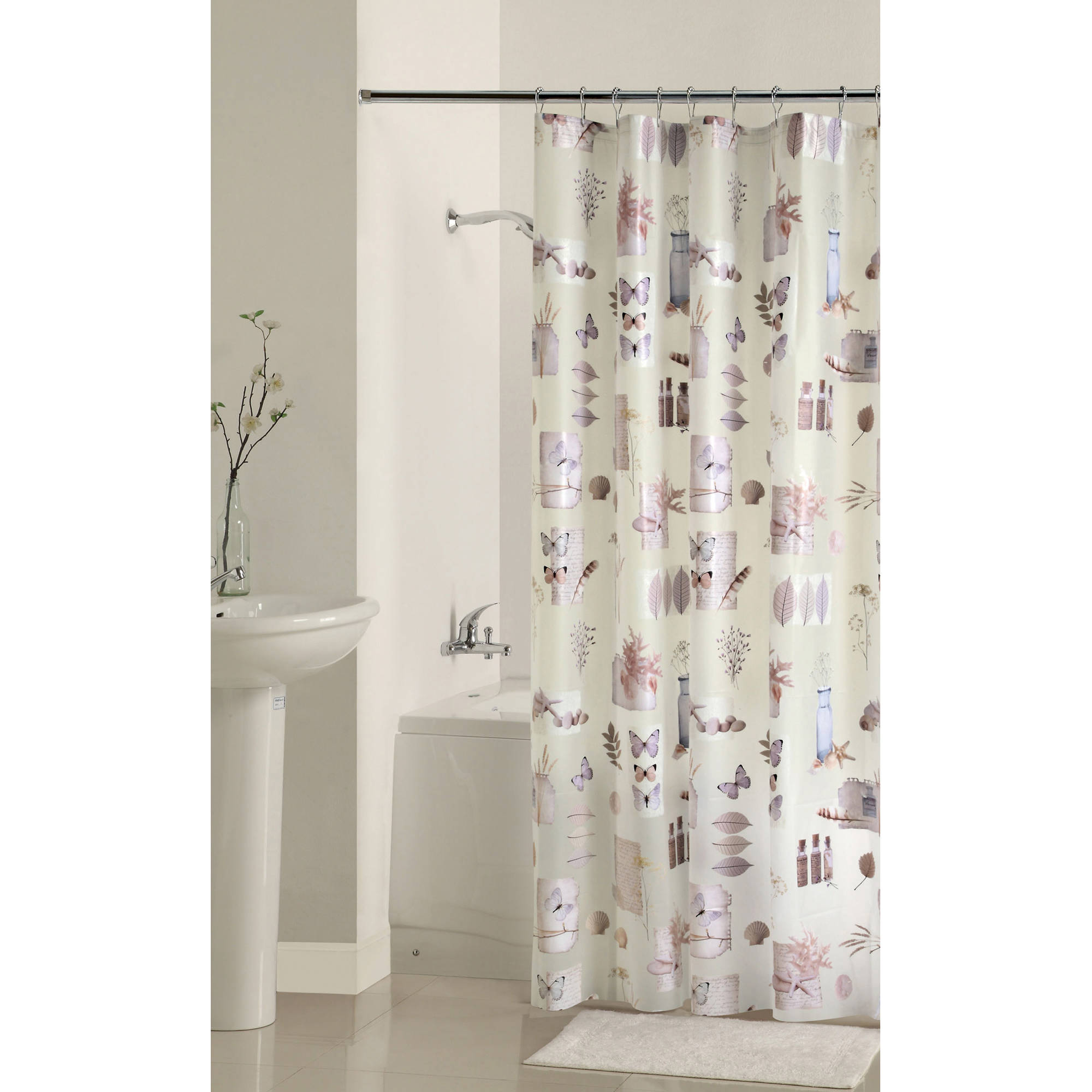 Mainstays Bamboo Natures Momemts Peva Shower Curtain Walmart Pertaining To Measurements 2000 X