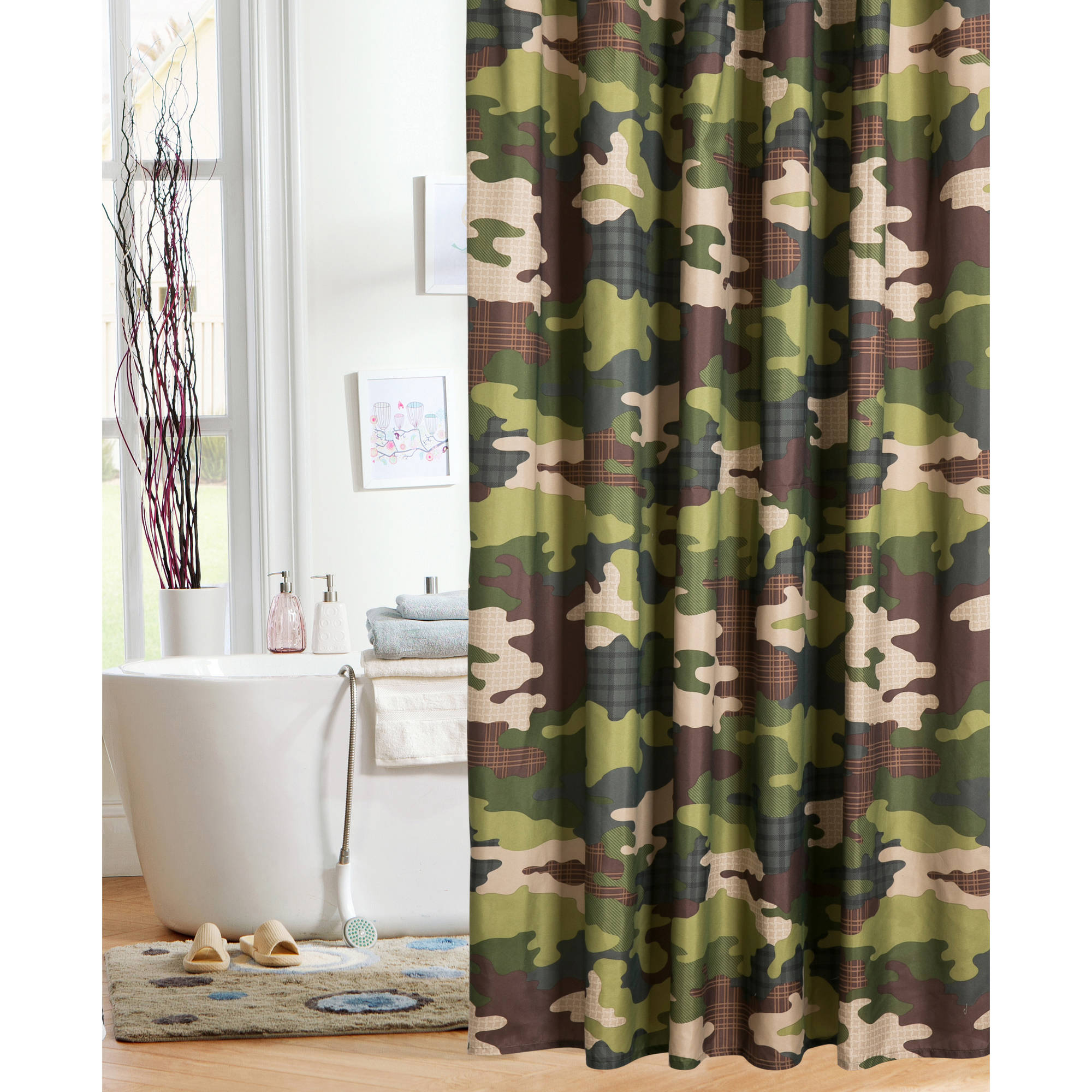 Mainstays Kids Camo Shower Curtain Walmart for measurements 2000 X 2000