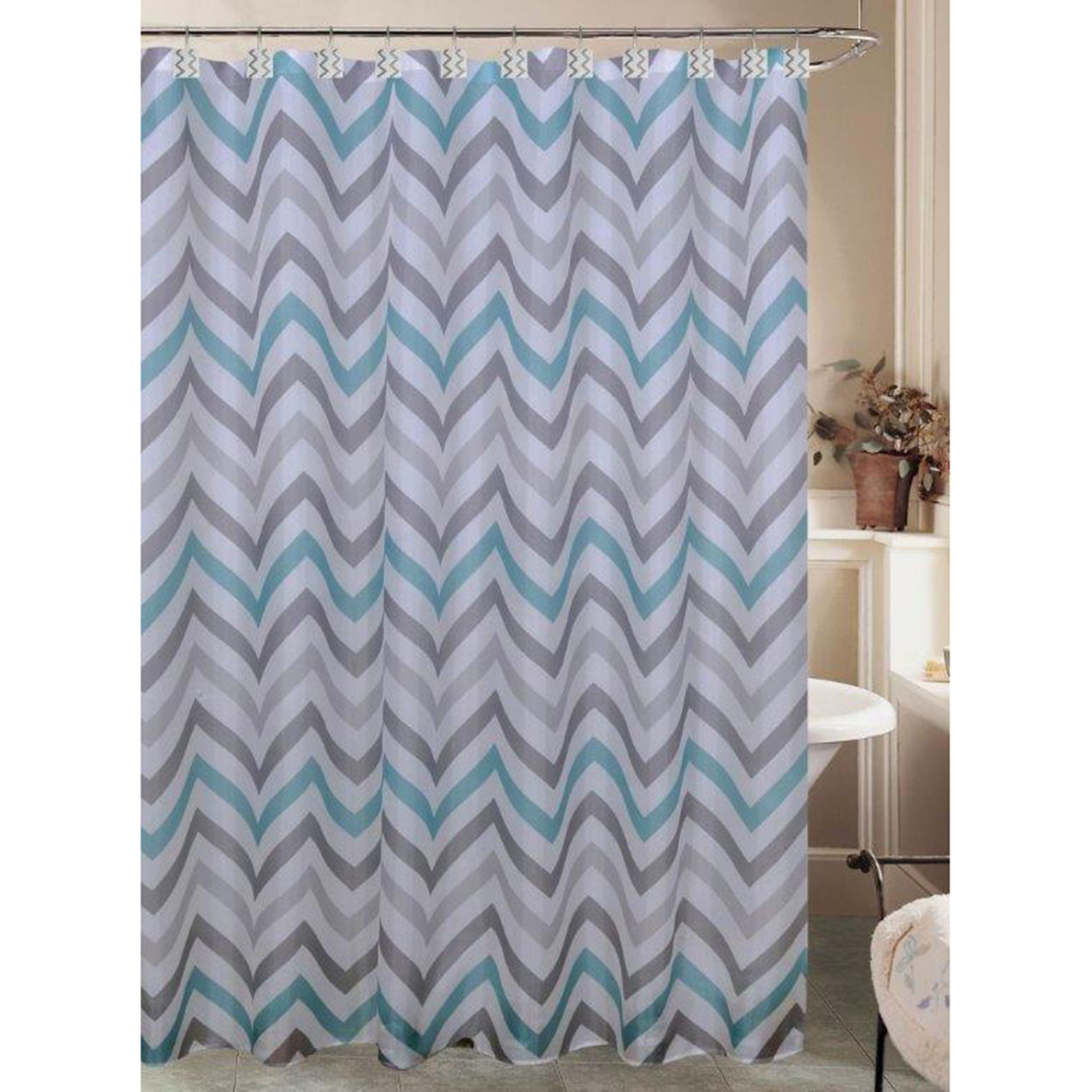 Marvelous Decoration Grey Chevron Shower Curtain Charming Design for sizing 1268 X 1268