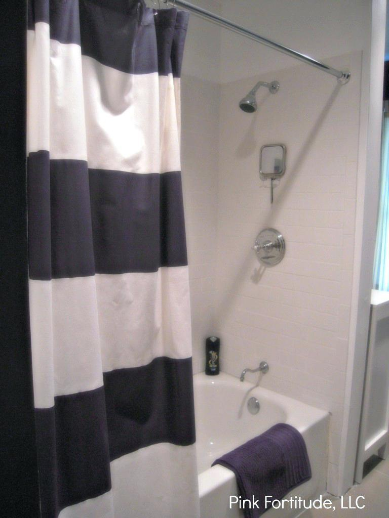 Marvelous Decoration Navy Stripe Shower Curtain Sensational Design with regard to proportions 768 X 1024