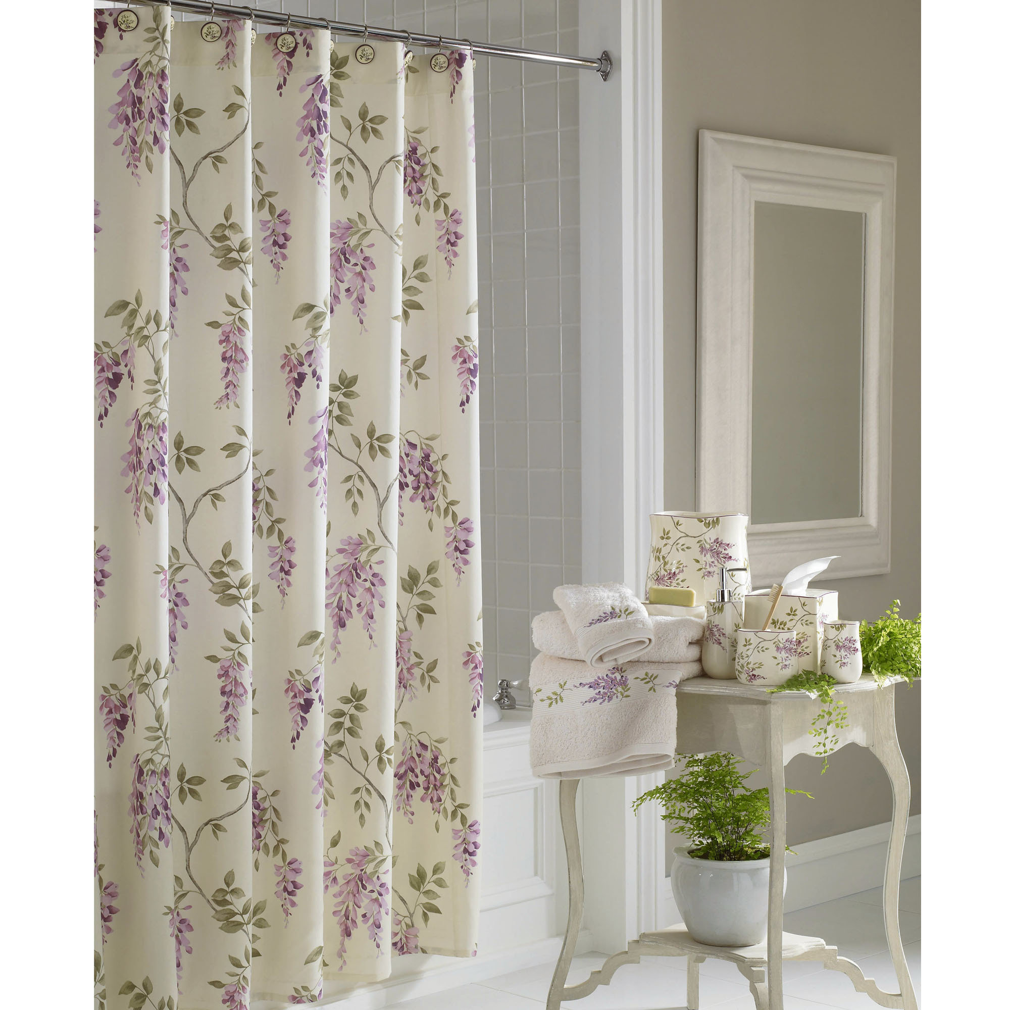 Lilac Colored Shower Curtains • Shower Curtains Ideas