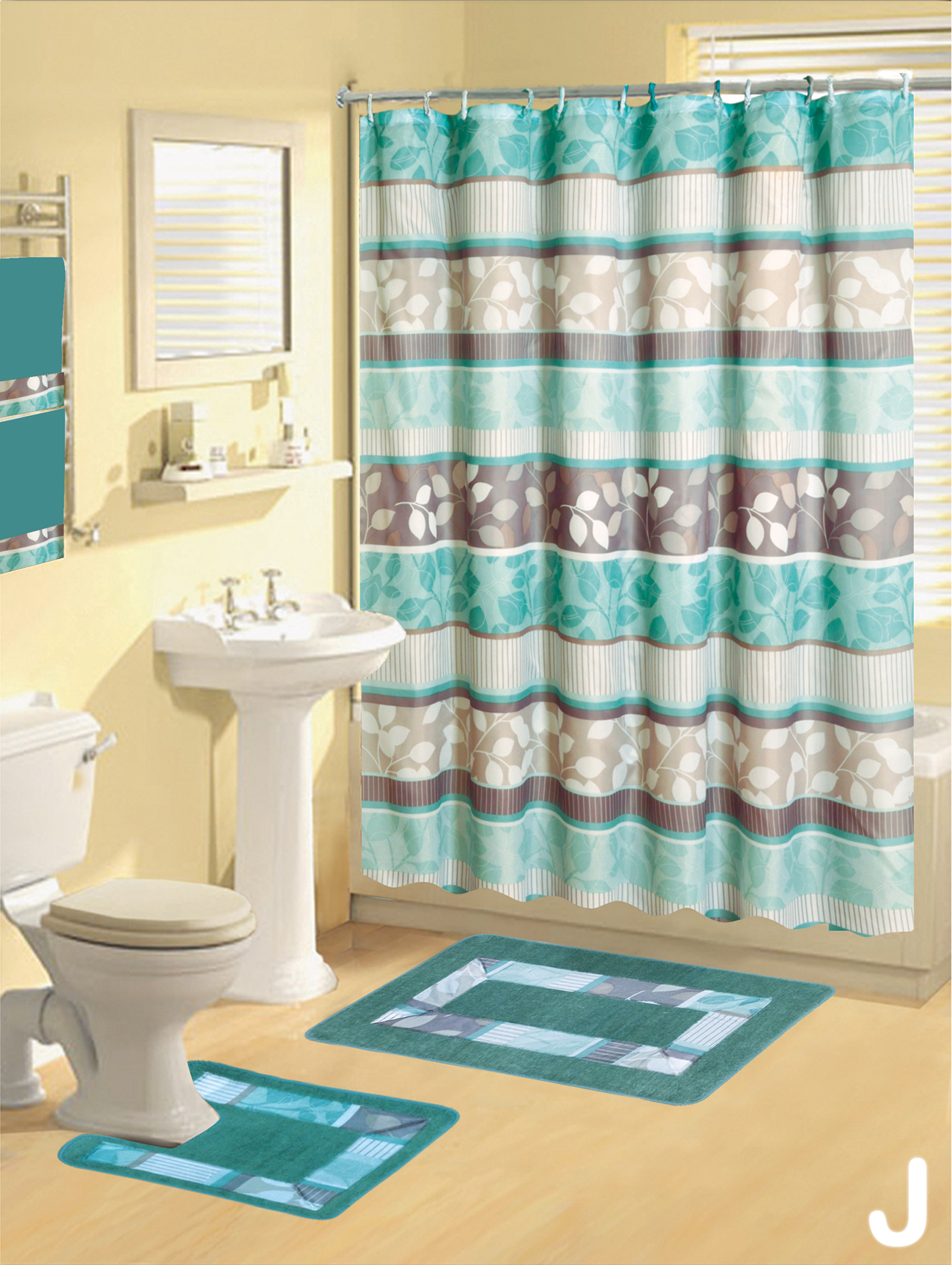 Matching Shower Curtain Towels And Rugs Rug Designs Intended For Size 1300 X 1727