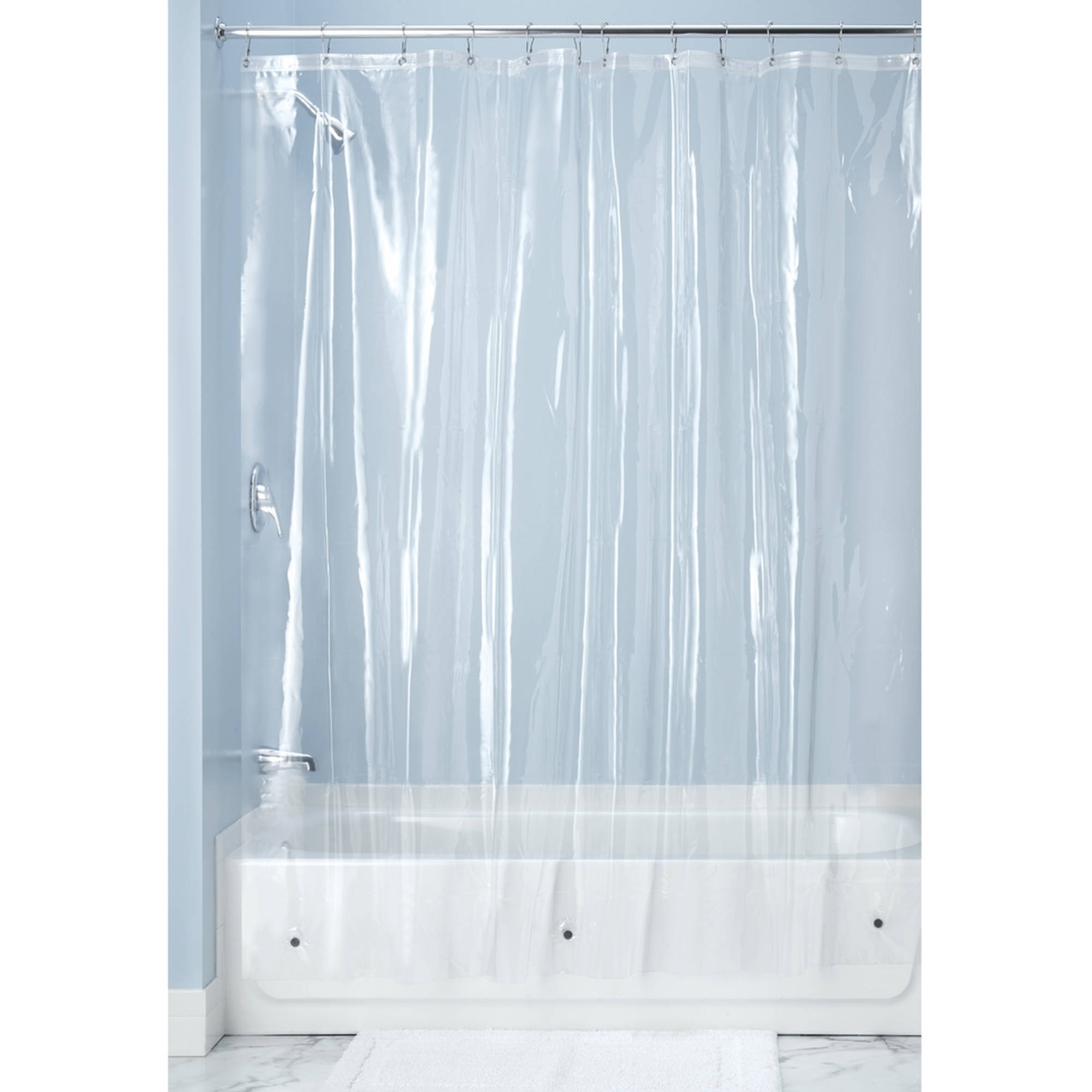 Clear Vinyl Shower Curtain With Fish • Shower Curtains Ideas