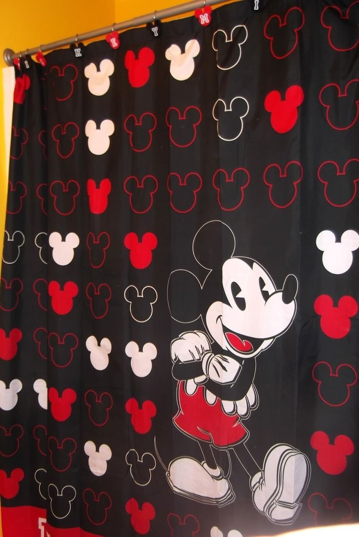 Mickey Mouse Shower Curtains Curtain Hooks Birthday Ba Boy In Proportions 736 X 1101