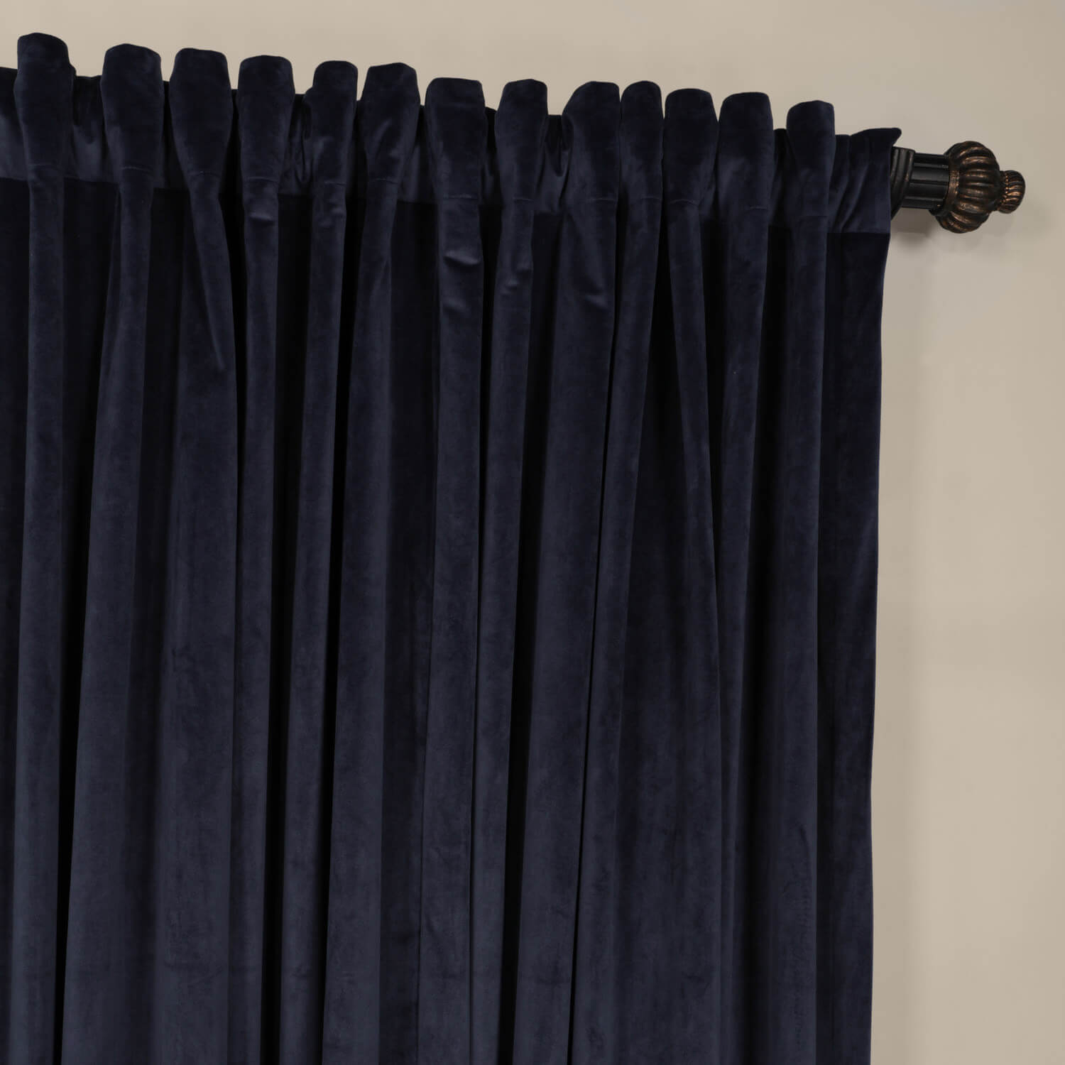 Midnight Blue Extra Wide Blackout Velvet Curtains intended for measurements 1500 X 1500