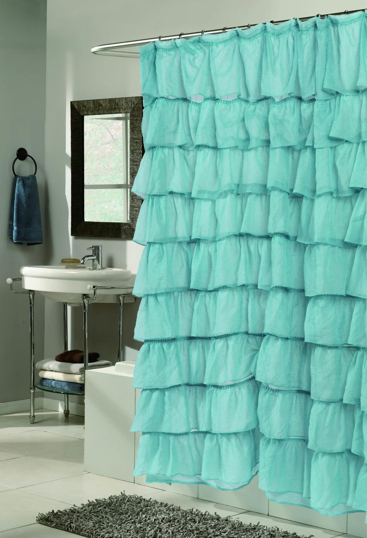 Mint Green Ruffle Shower Curtain Curtains Design With Dimensions 1280 X 1877