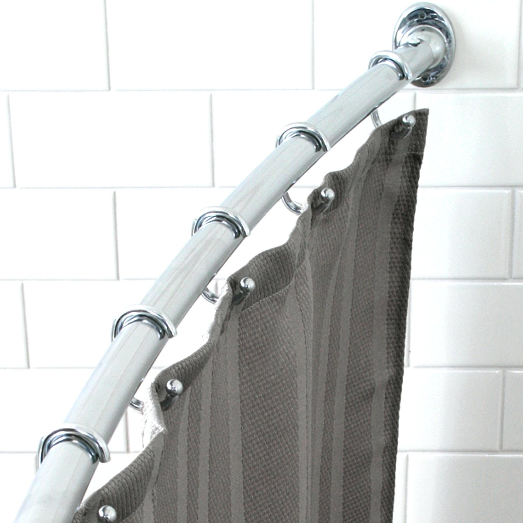 Moen Curved Tension Shower Curtain Rods Shower Curtains Design within dimensions 1800 X 1800
