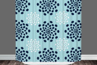 Navy Blue And White Polka Dot Shower Curtain Shower Curtain with regard to sizing 2000 X 2000
