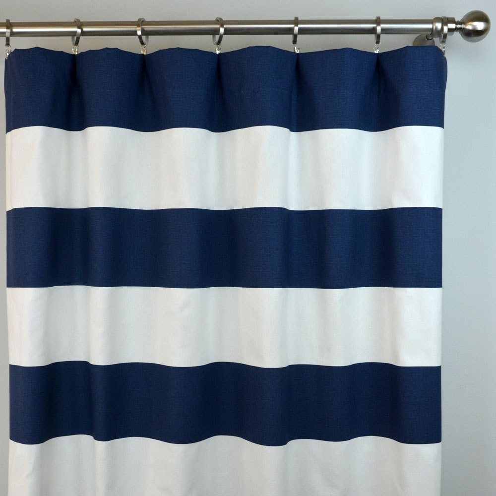 Navy Blue White Striped Shower Curtain Shower Curtain Ideas within dimensions 1000 X 1000