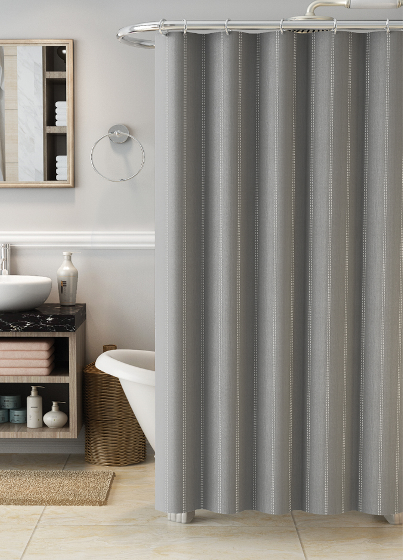 ideas lovely beautiful long stripe inch carlow x madison scheme curtains ticking shower design curtain of park jacquard