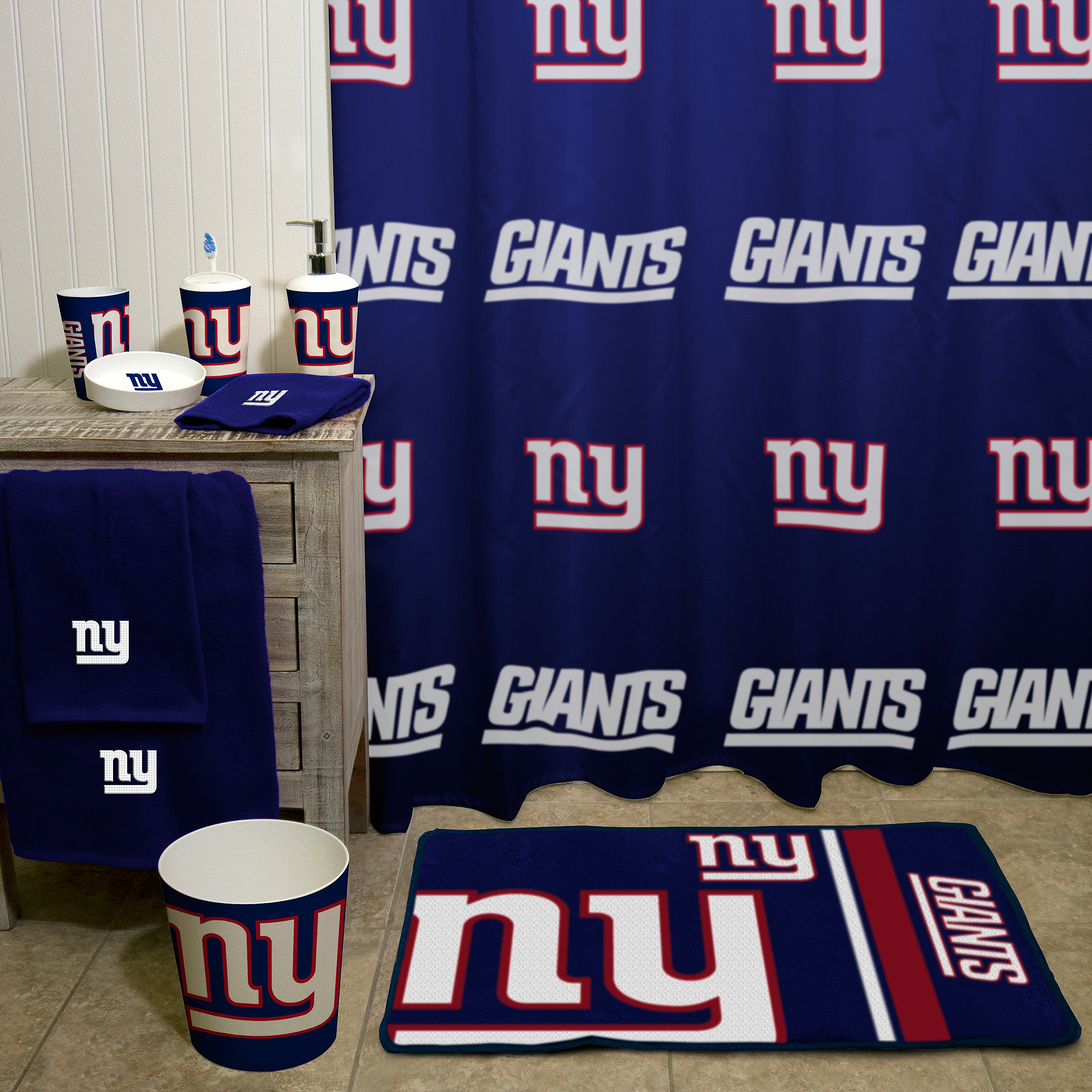 Nfl New York Giants Decorative Bath Collection Shower Curtain with proportions 2000 X 2000