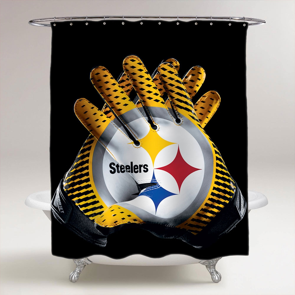 Nfl Pittsburgh Steelers Shower Curtain Shower Curtains Design In Size 1000  X 1000