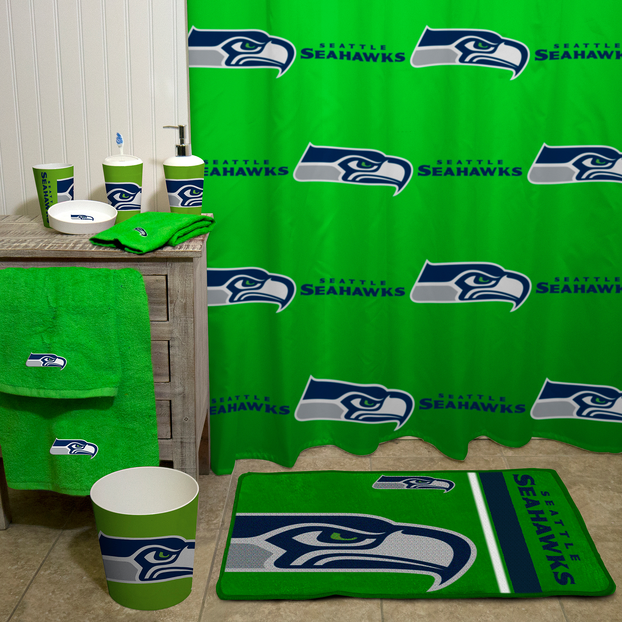 Nfl Seattle Seahawks Decorative Bath Collection Shower Curtain with proportions 2000 X 2000