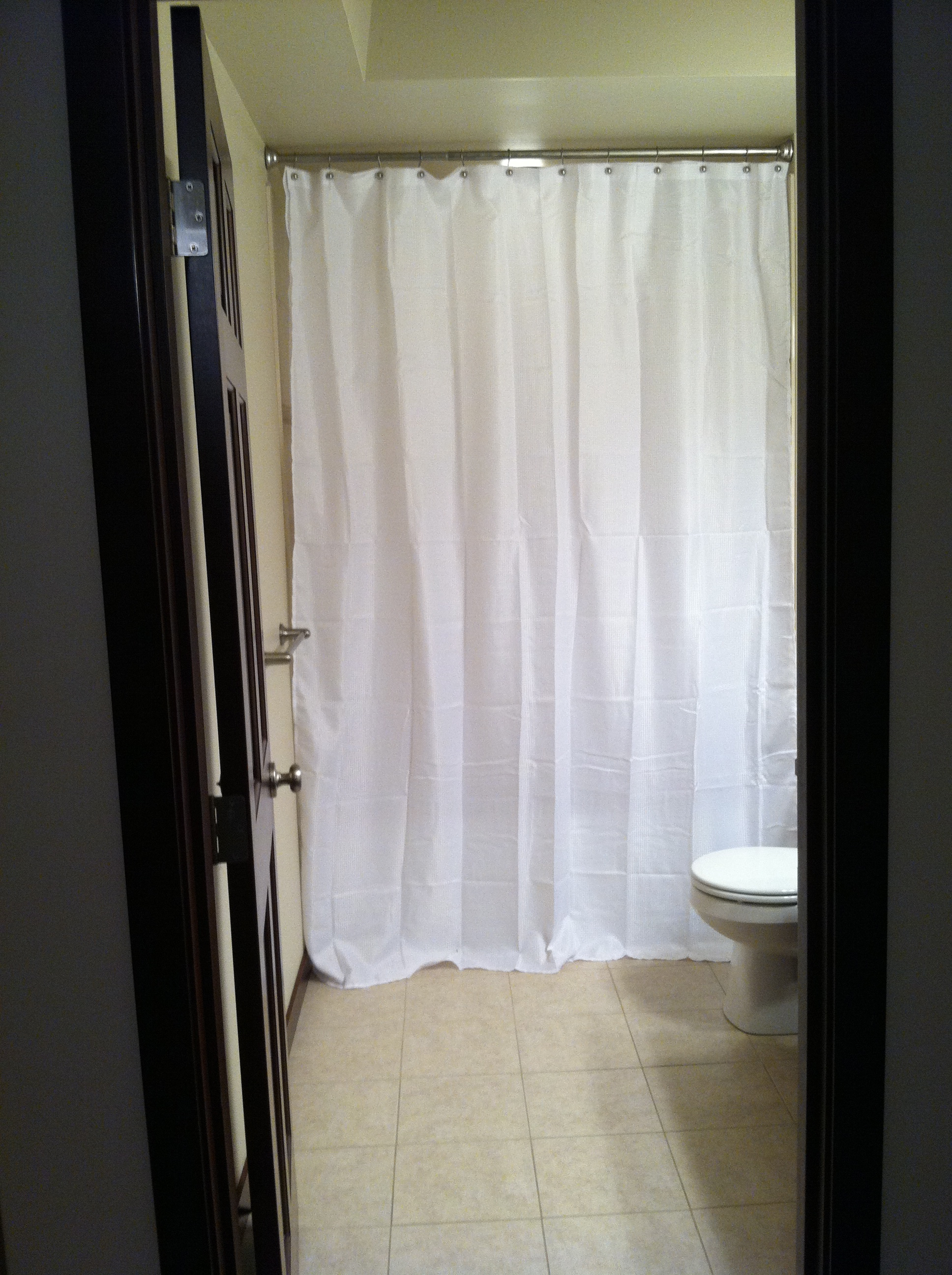 Nice Looking White Vinyl Extra Long Shower Curtain Liner With for size 1936 X 2592