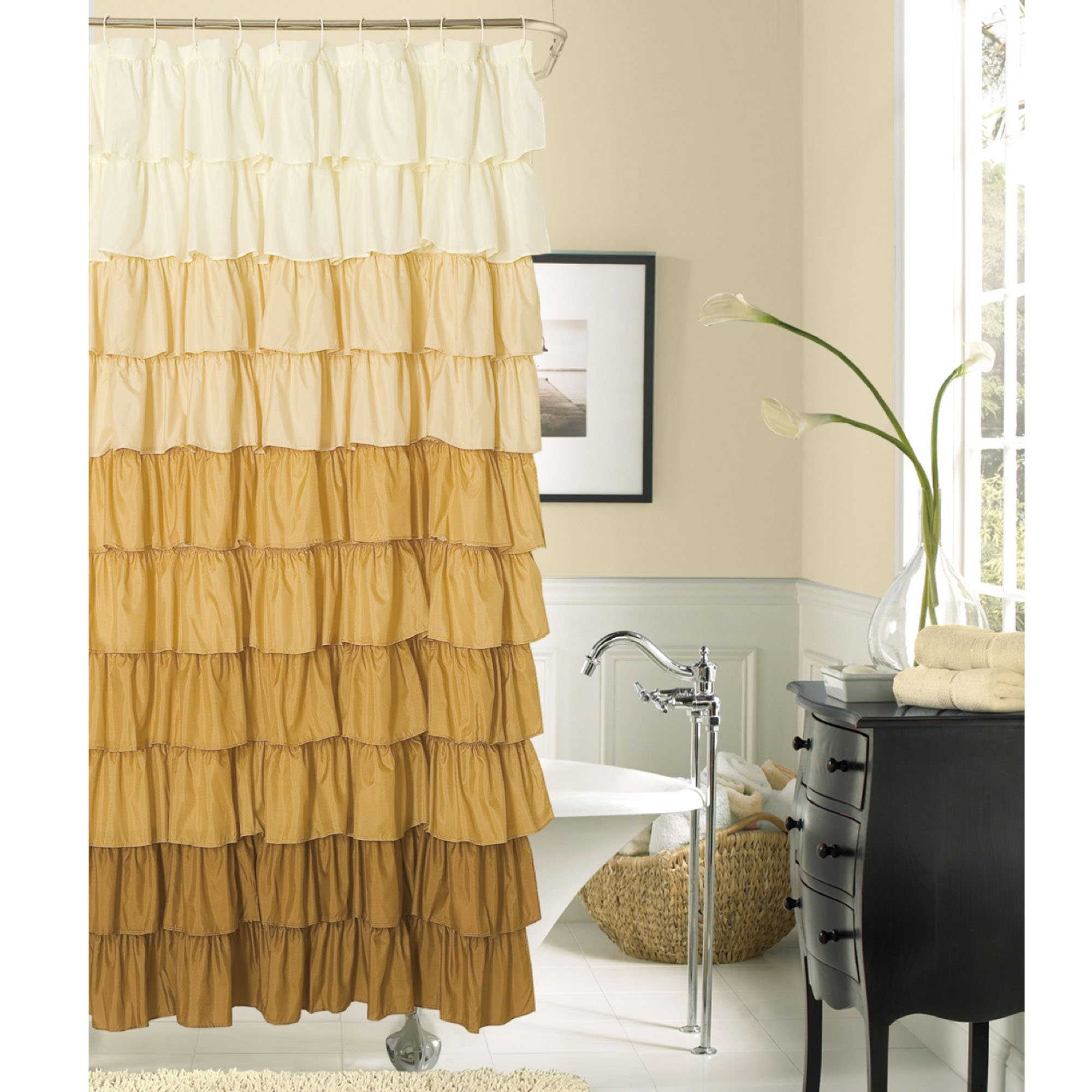 Nickbarronco 100 Black White And Gold Shower Curtain Images intended for dimensions 2000 X 2000