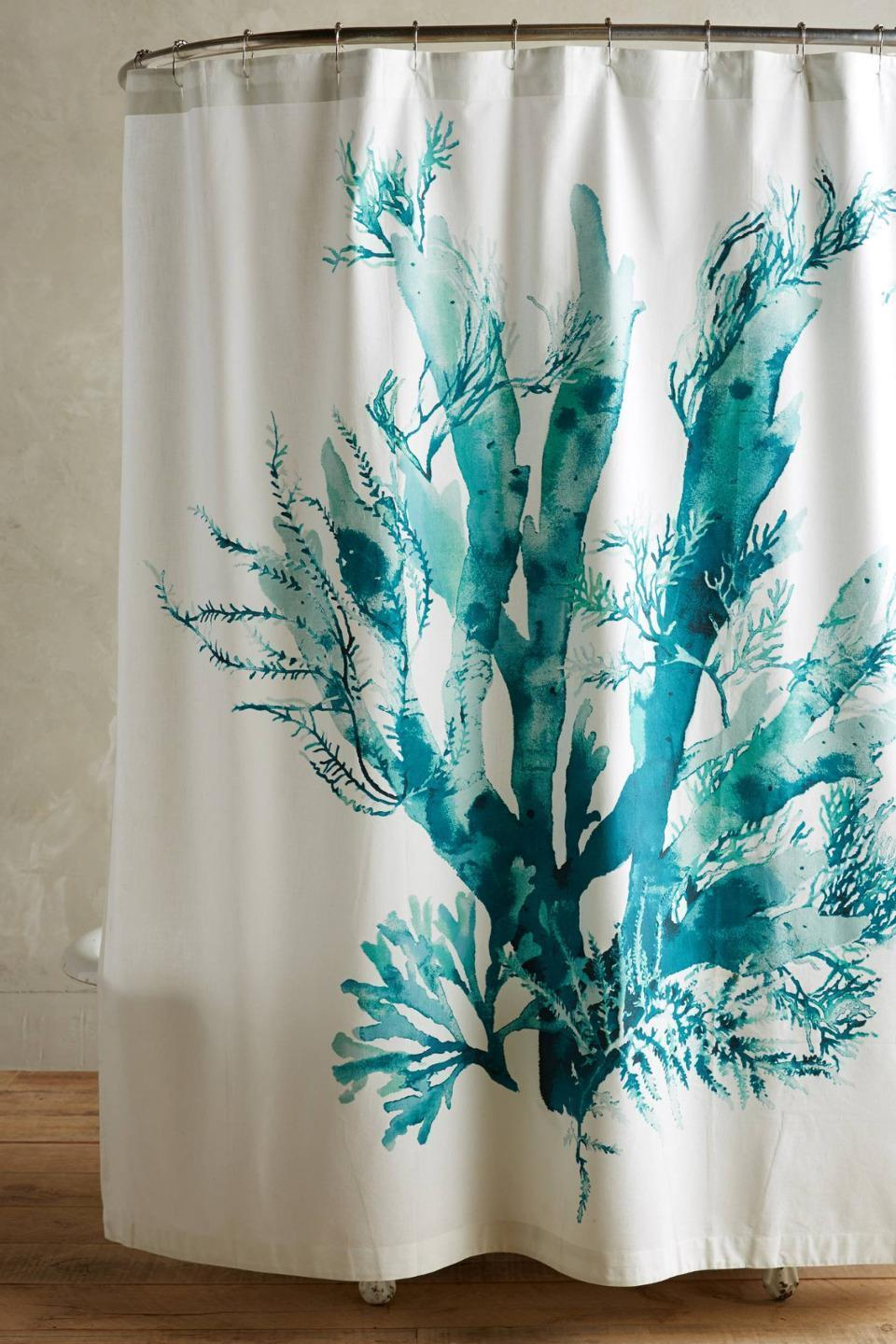 Nwt Anthropologie Turquoise Blue Ginko Sea Coral Beach Shower for sizing 960 X 1440