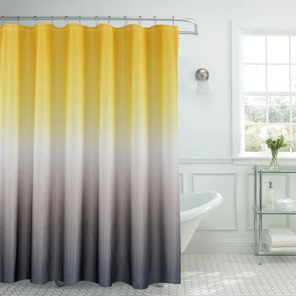 Solid Yellow Cloth Shower Curtain • Shower Curtains Ideas