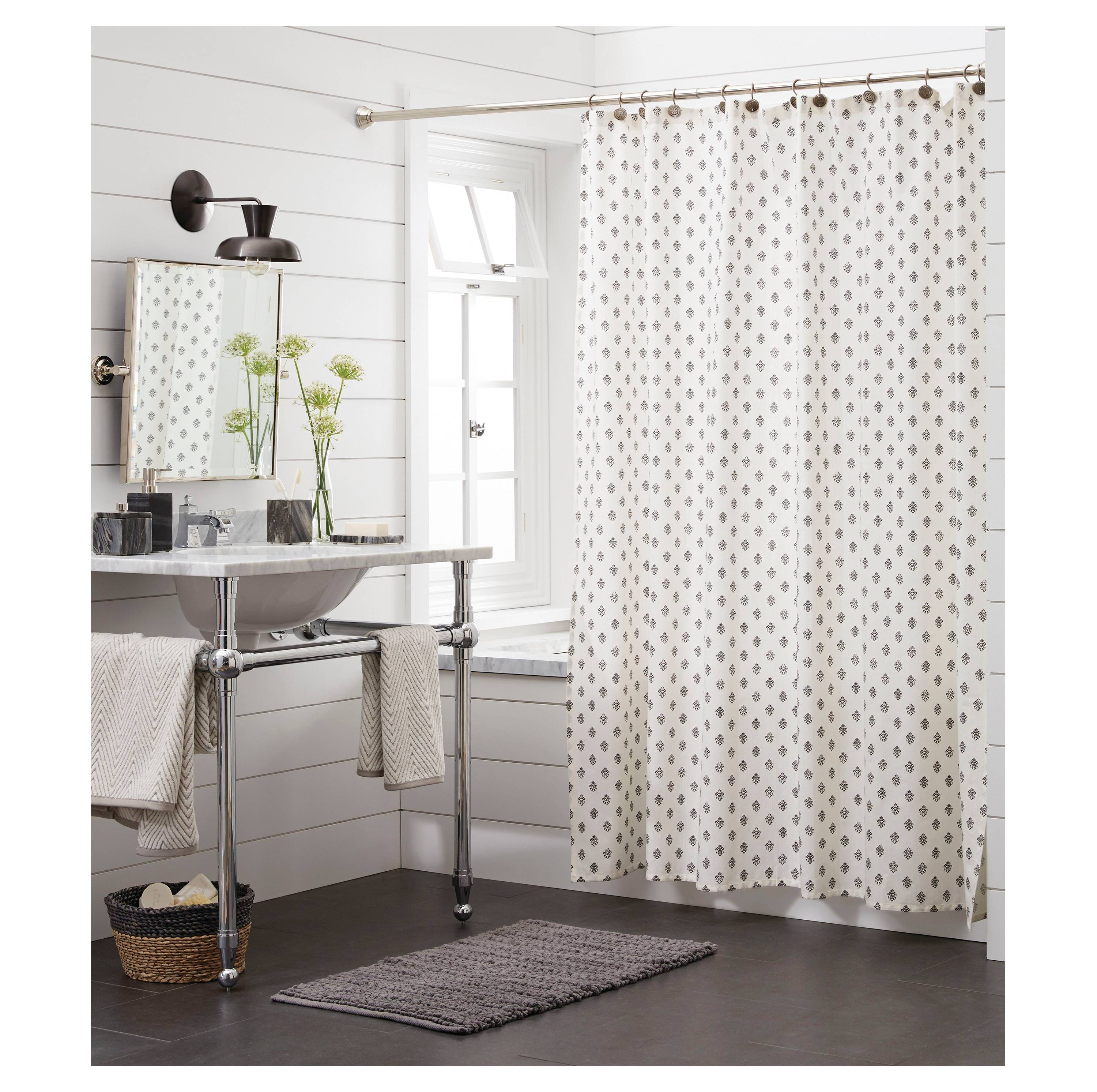 Black And White Flower Shower Curtain. Our New Shower Curtain 10 Curtains You Might Like The intended for  measurements 3000 X Black And White Floral Print Ideas