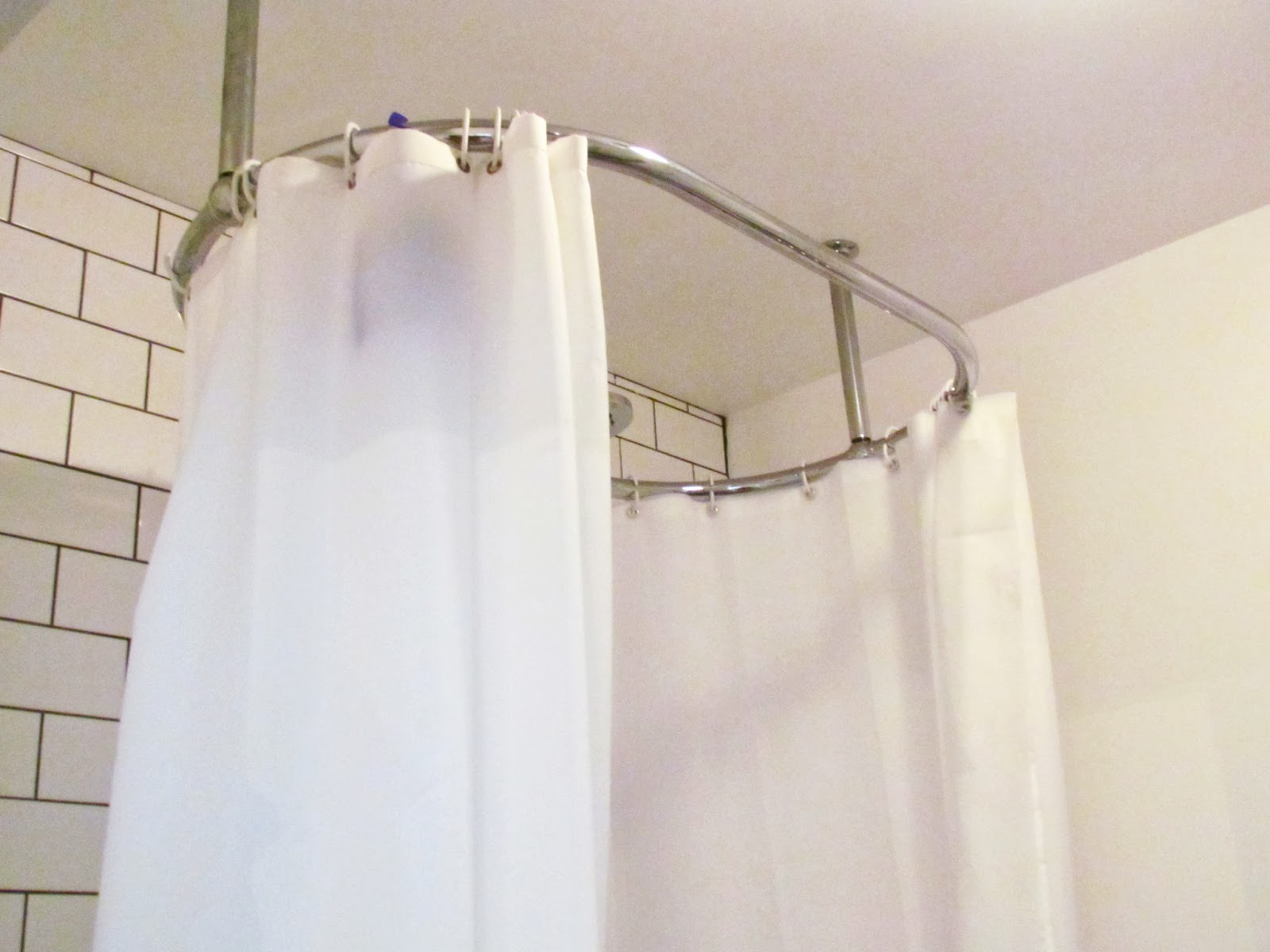 Oval Shower Curtain Rod Design Bed And Shower The Height Of with regard to dimensions 1600 X 1200