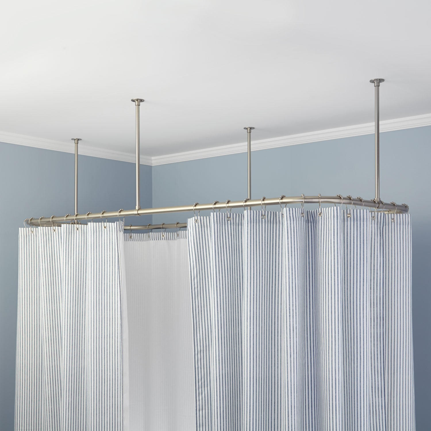 Oval Shower Curtain Rod Ideas Bed And Shower The Height Of The with proportions 1500 X 1500