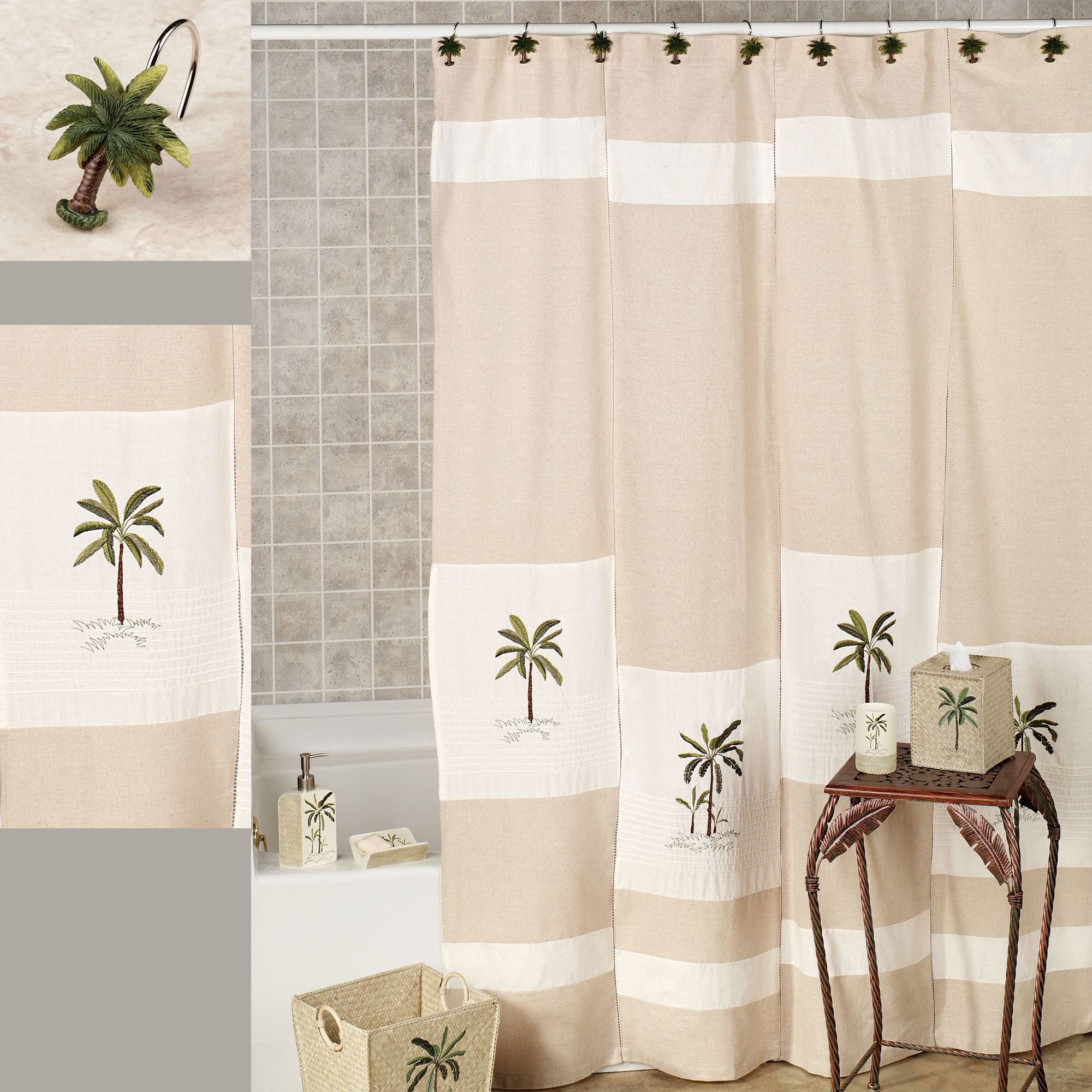 Palm Tree Shower Curtain Hooks Shower Curtains Design regarding size 2000 X 2000