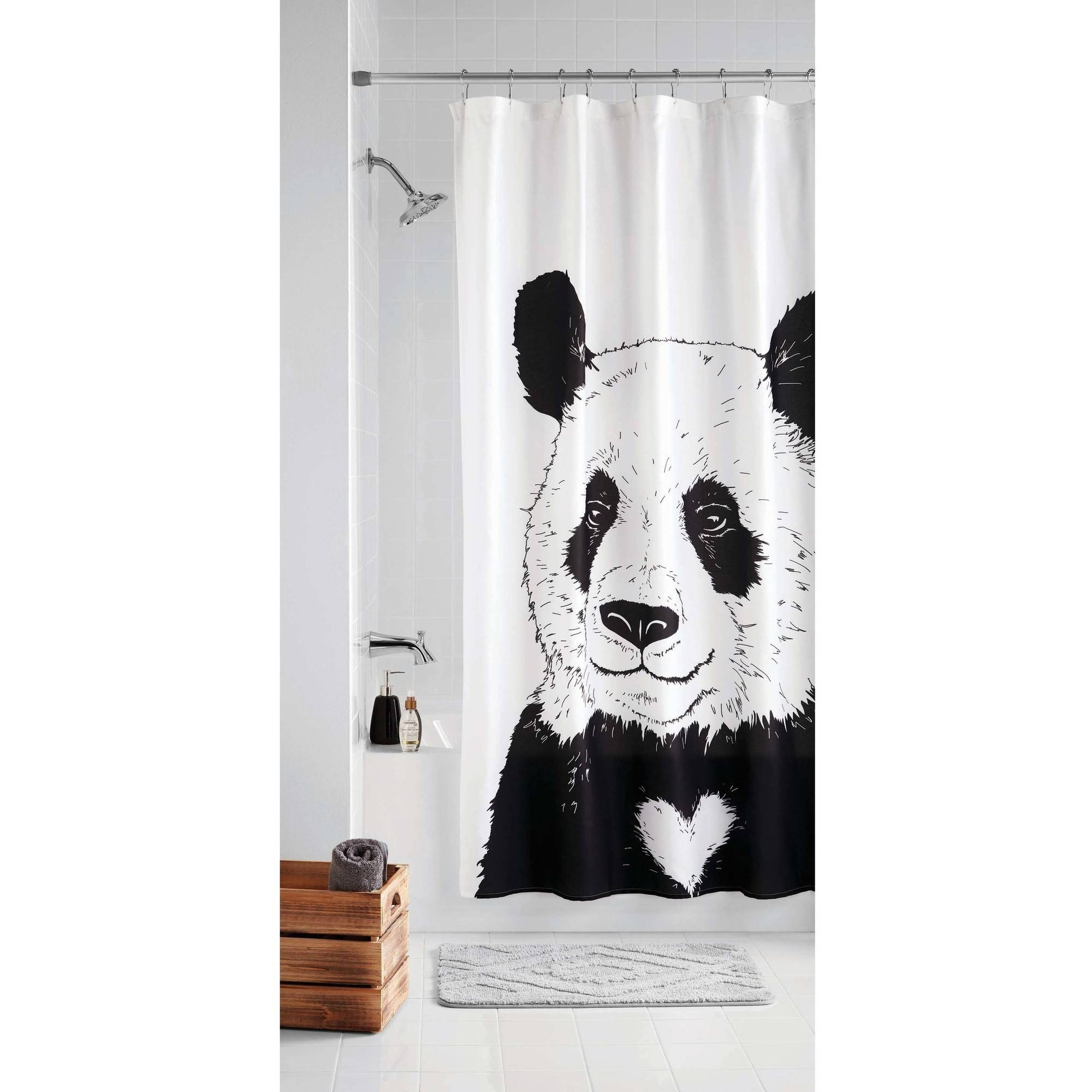 Panda Bear Shower Curtain Rings Throughout Size 2000 X
