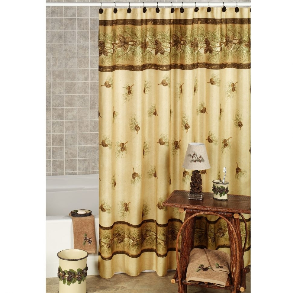 Perfect Design Pine Cone Shower Curtain Innovational Ideas in measurements 970 X 970