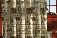 Picturesque Northwoods Woodland Bathroom Shower Curtain W Rings Of in sizing 823 X 1001