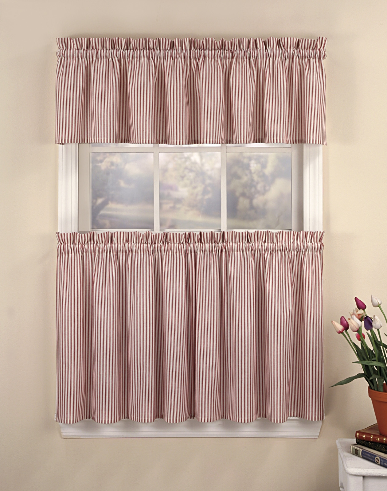 Pink Ticking Stripe Shower Curtain Shower Curtain throughout sizing 1260 X 1599