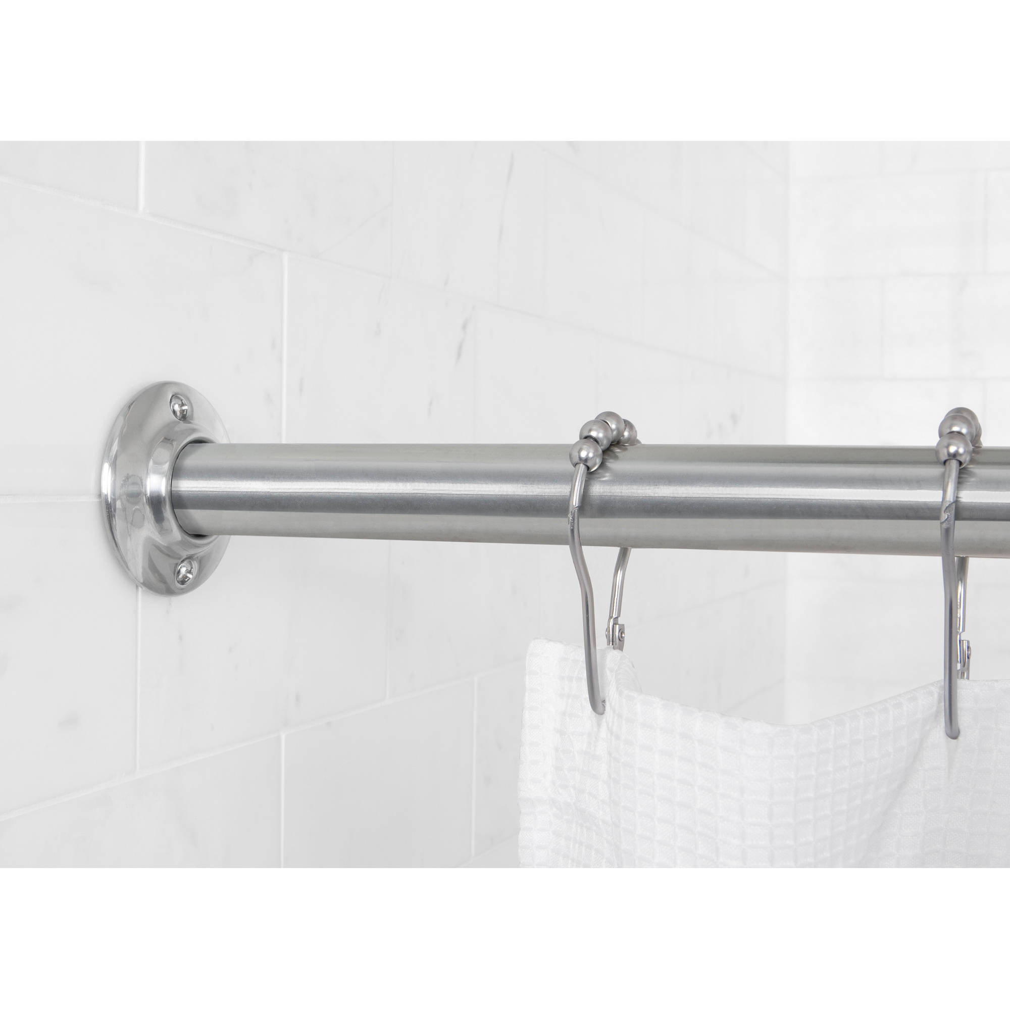Polished Nickel Tension Shower Curtain Rod • Shower Curtains Ideas