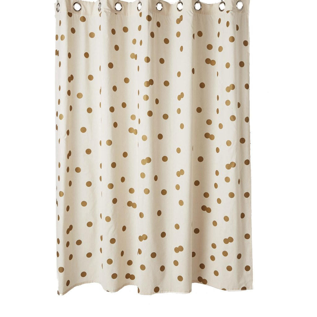Polka Dot Gold White Shower Curtain From Ankit Bedroombeauty In Measurements 1024 X