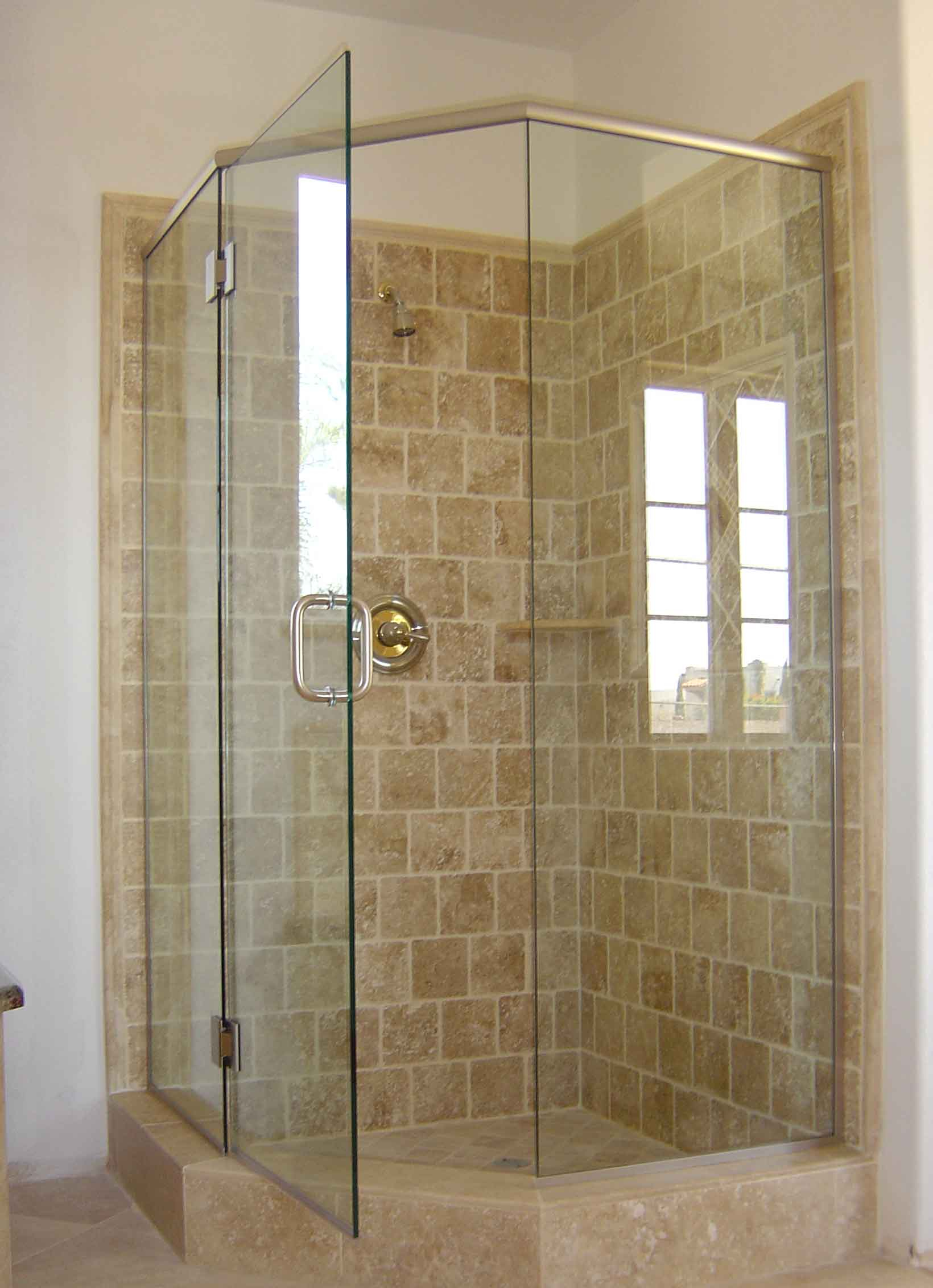 Corner Shower Stall With Curtain • Shower Curtains Ideas
