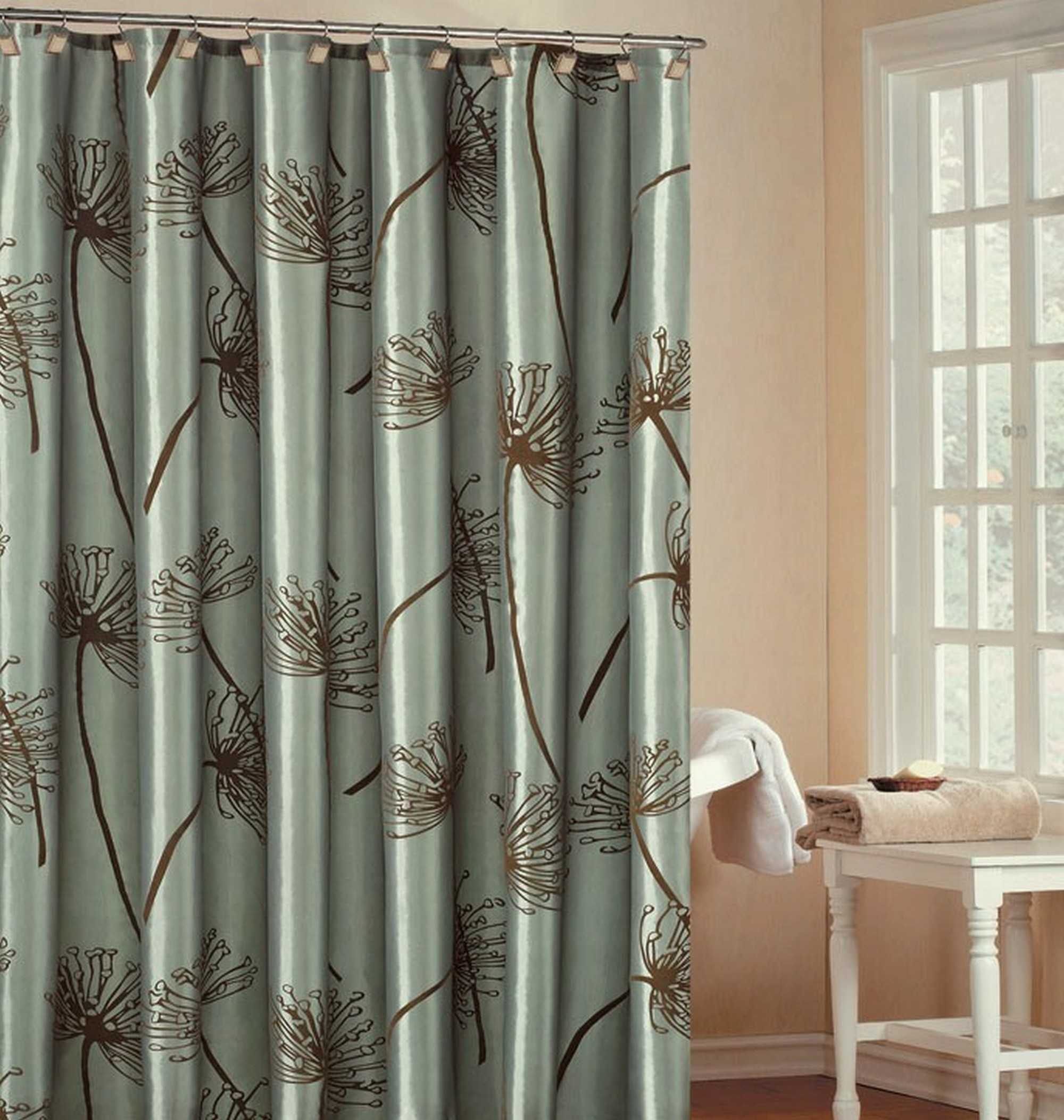 Prepossessing Luxurious Shower Curtains With Valance Interior Home for proportions 2000 X 2105