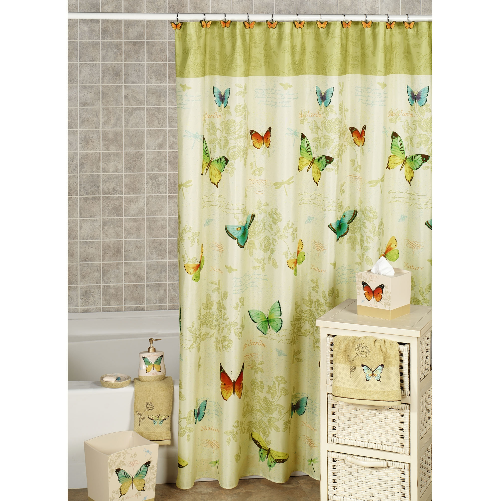 theme touch curtain beige curtains bath shower throughout of class and hooks