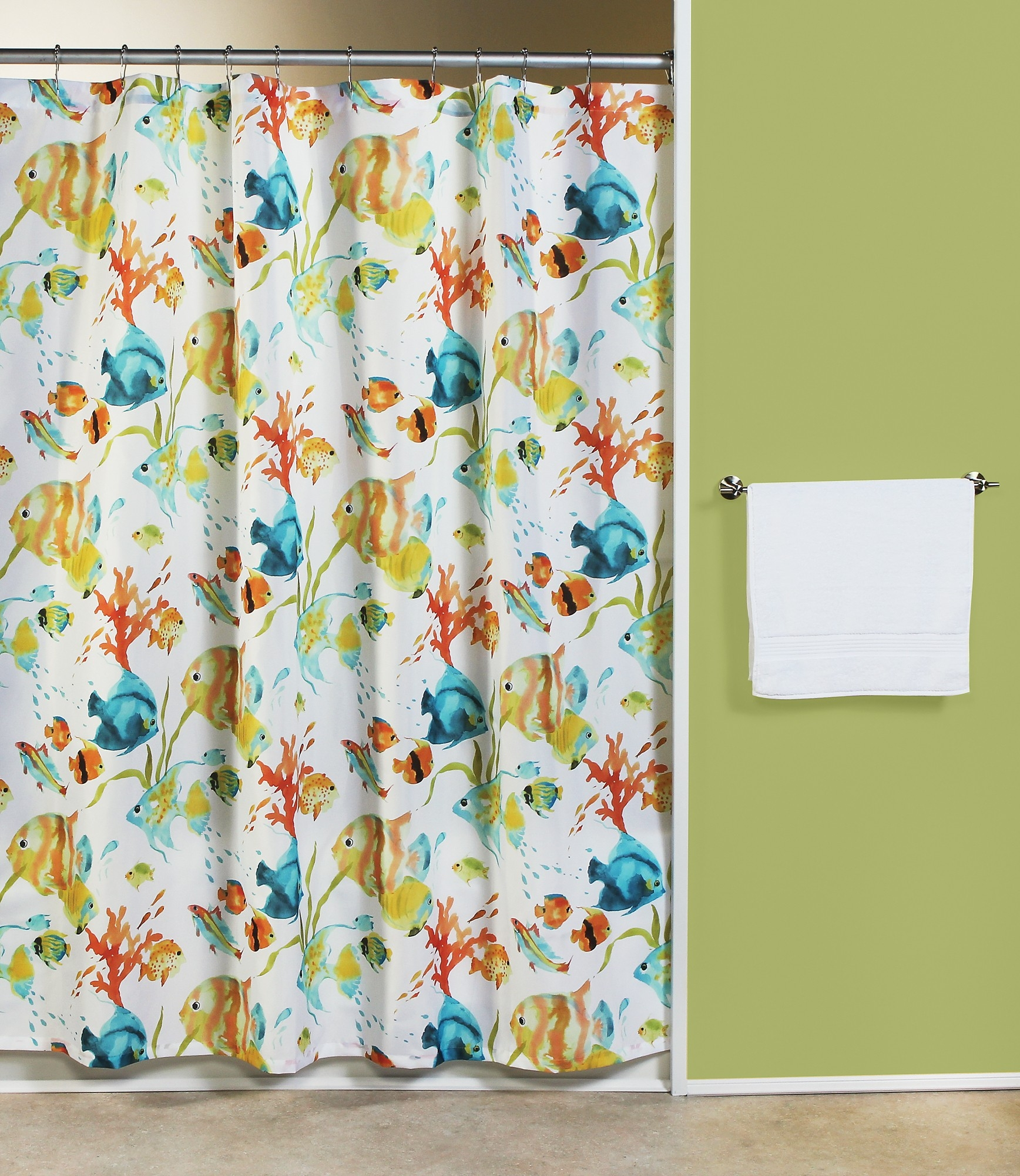 Rainbow Trout Shower Curtain Shower Curtain inside size 1736 X 2000