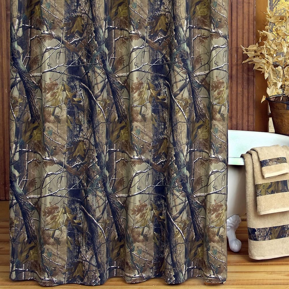 Realtree Ap Camo Shower Curtain Shower Curtains Design pertaining to proportions 1001 X 1001