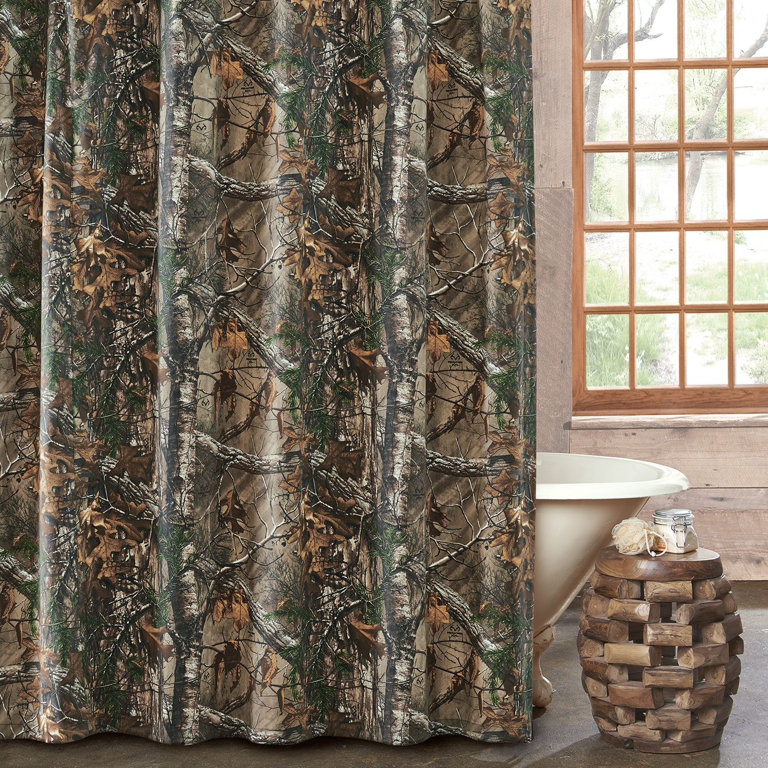 Realtree Xtra Camo Shower Curtain Kimlor Mills Inc with regard to proportions 1500 X 1500
