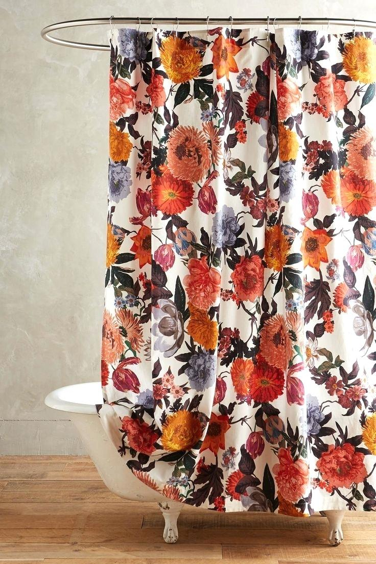 Red And Black Flower Shower Curtain Curtains Design With Regard To Proportions 736 X 1104 Hooks Ideas