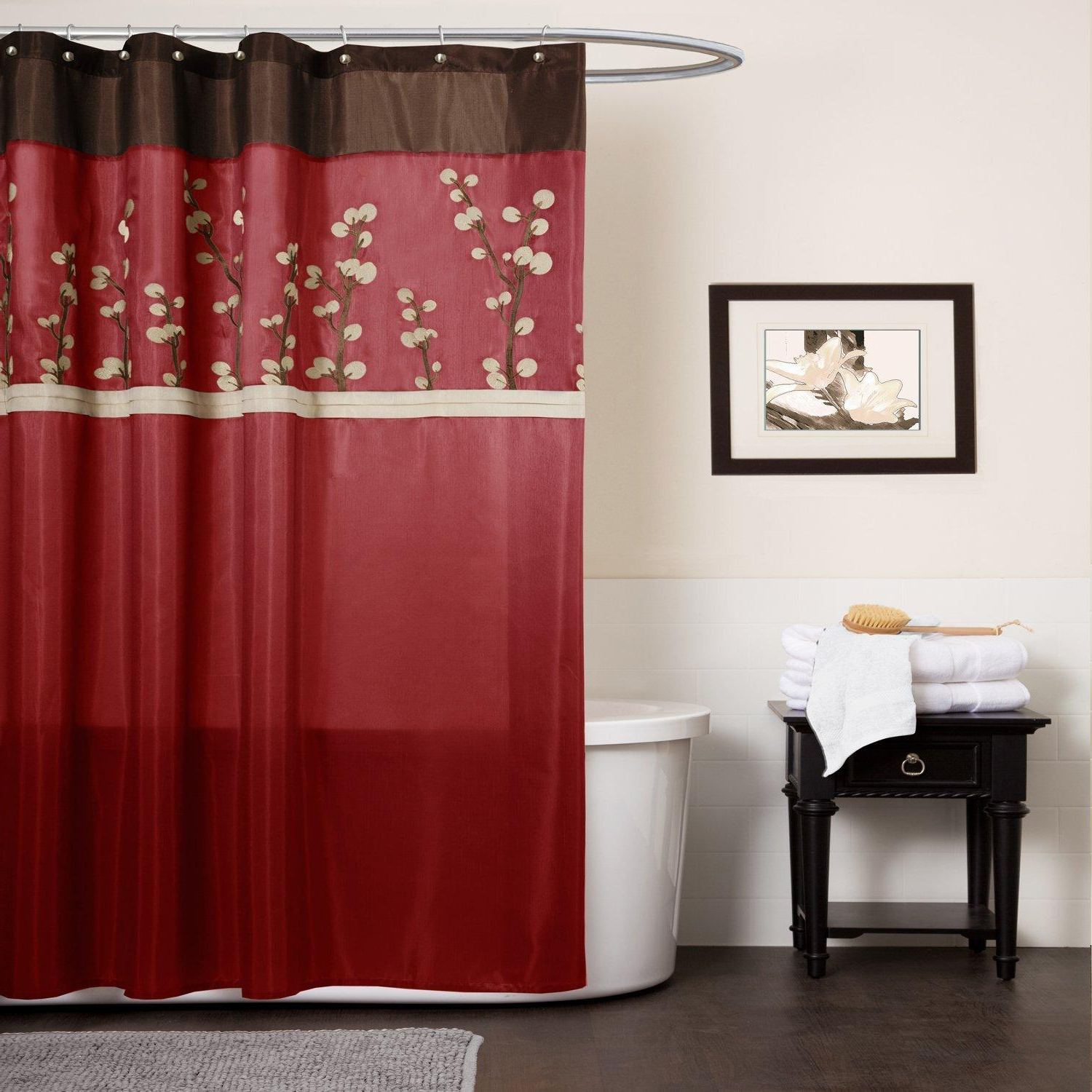 Red And Black Shower Curtain Hooks • Shower Curtains Ideas