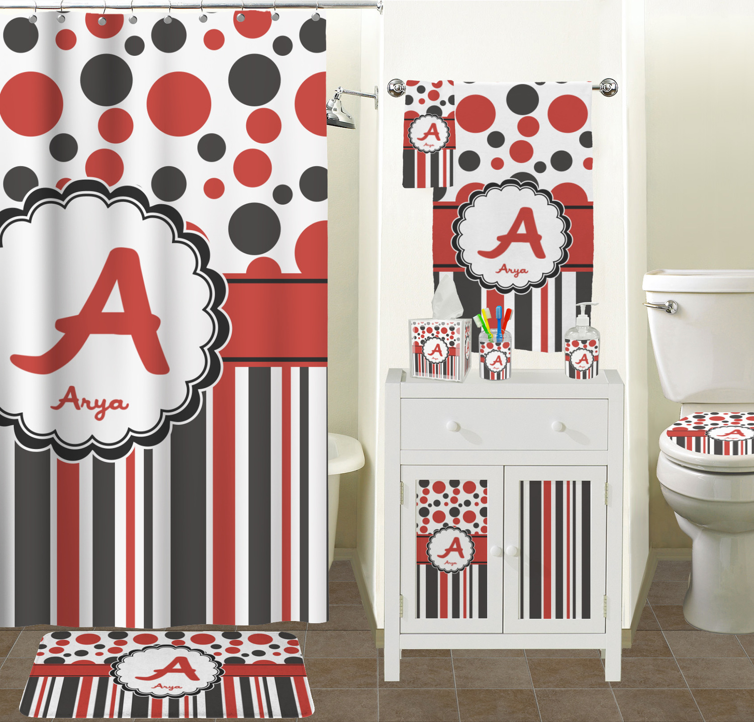Red And Black Shower Curtains Ideas Inside Size 1500 X 1436